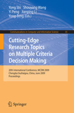 Shi, Yong - Cutting-Edge Research Topics on Multiple Criteria Decision Making, ebook