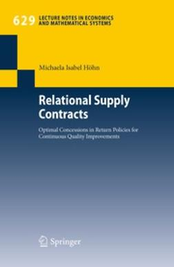 Höhn, Michaela Isabel - Relational Supply Contracts, e-kirja