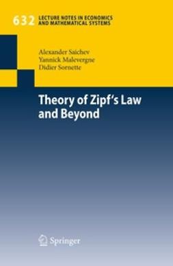 Saichev, Alex - Theory of Zipf's Law and Beyond, e-bok