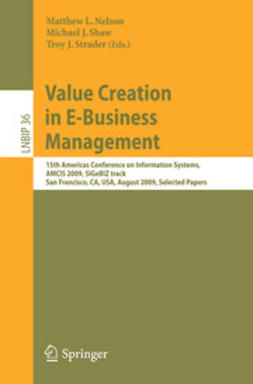 Nelson, Matthew L. - Value Creation in E-Business Management, ebook