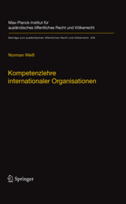 Weiß, Norman - Kompetenzlehre internationaler Organisationen, e-bok