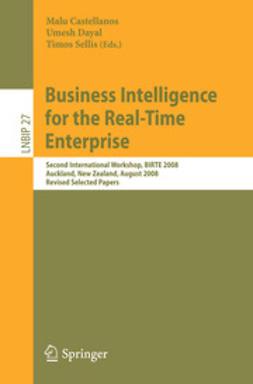 Castellanos, Malu - Business Intelligence for the Real-Time Enterprise, e-bok
