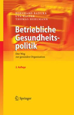 Badura, Bernhard - Betriebliche Gesundheitspolitik, ebook
