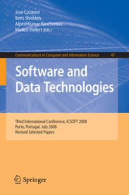 Cordeiro, José - Software and Data Technologies, e-bok