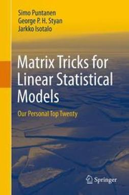 Isotalo, Jarkko - Matrix Tricks for Linear Statistical Models, ebook