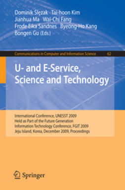 Ślęzak, Dominik - U- and E-Service, Science and Technology, ebook