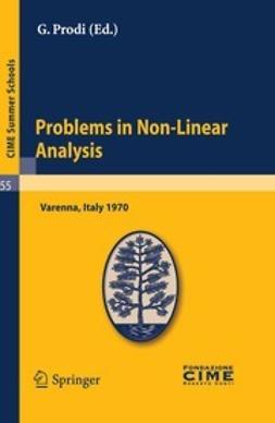Prodi, G. - Problems in Non-Linear Analysis, ebook