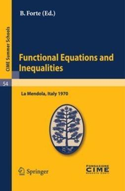 Forte, B. - Functional Equations and Inequalities, ebook