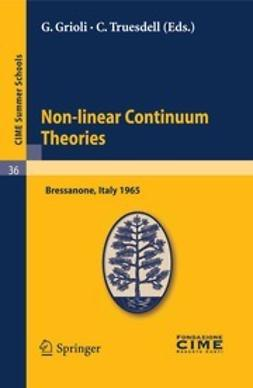 Grioli, G. - Non-linear Continuum Theories, ebook
