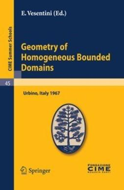 Vesentini, E. - Geometry of Homogeneous Bounded Domains, e-bok