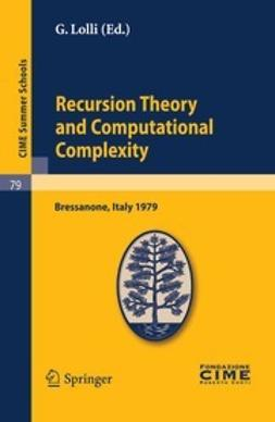 Lolli, G. - Recursion Theory and Computational Complexity, ebook