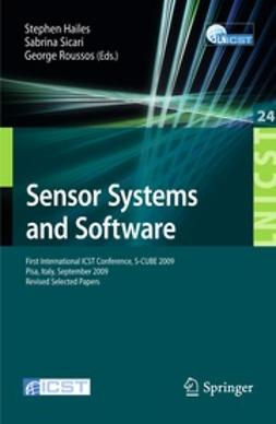 Hailes, Stephen - Sensor Systems and Software, ebook