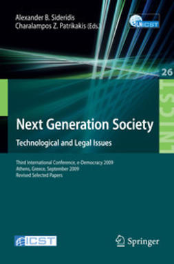 Patrikakis, Charalampos Z. - Next Generation Society. Technological and Legal Issues, e-kirja
