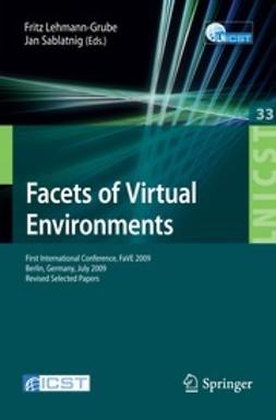 Lehmann-Grube, Fritz - Facets of Virtual Environments, ebook