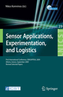 Komninos, Nikos - Sensor Applications, Experimentation, and Logistics, ebook