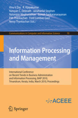 Das, Vinu V - Information Processing and Management, e-kirja
