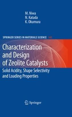 Niwa, Miki - Characterization and Design of Zeolite Catalysts, ebook