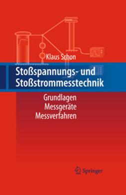 Schon, Klaus - Stoßspannungs- und Stoßstrommesstechnik, e-bok