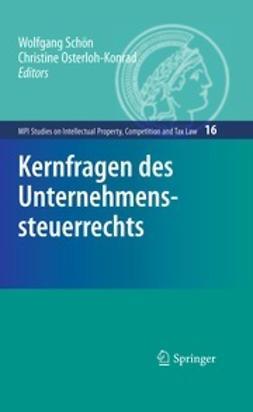 Schön, Wolfgang - Kernfragen des Unternehmenssteuerrechts, e-kirja
