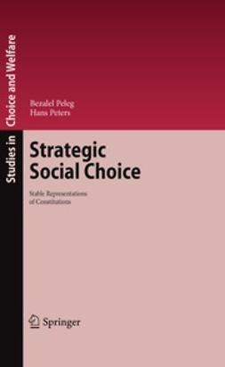 Peleg, Bezalel - Strategic Social Choice, ebook