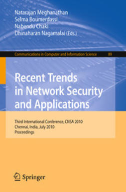 Meghanathan, Natarajan - Recent Trends in Network Security and Applications, ebook