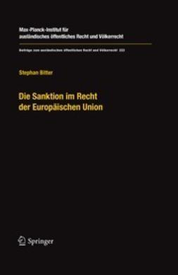 Bitter, Stephan - Die Sanktion im Recht der Europäischen Union, e-bok