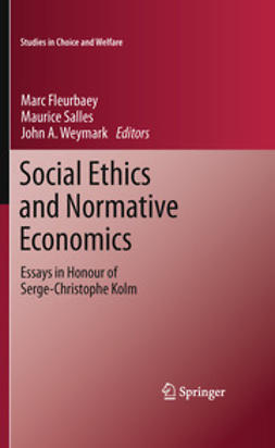 Fleurbaey, Marc - Social Ethics and Normative Economics, ebook