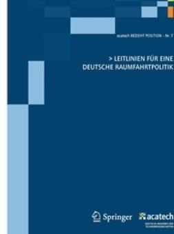 - > Leitlinien Für Eine Deutsche Raumfahrtpolitik, ebook