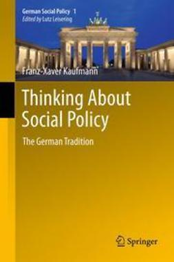 Kaufmann, Franz-Xaver - Thinking About Social Policy, ebook