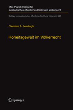 Feinäugle, Clemens A. - Hoheitsgewalt im Völkerrecht, ebook