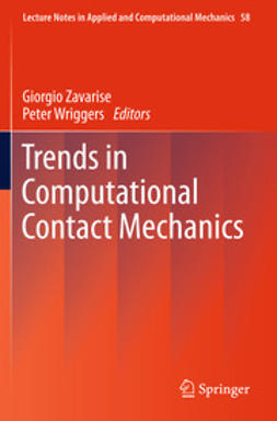 Zavarise, Giorgio - Trends in Computational Contact Mechanics, ebook