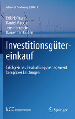 Hofmann, Erik - Investitionsgütereinkauf, ebook