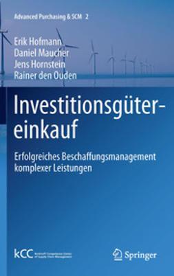 Hofmann, Erik - Investitionsgütereinkauf, ebook