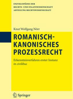 Nörr, Knut Wolfgang - Romanisch-kanonisches Prozessrecht, ebook
