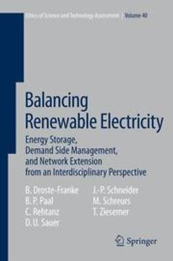Droste-Franke, Bert - Balancing Renewable Electricity, ebook