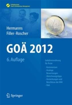 Hermanns, Peter M. - GOÄ 2012, ebook