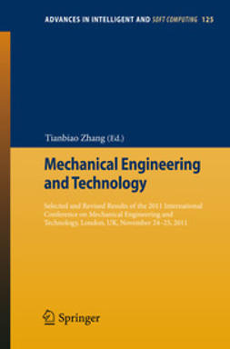 Zhang, Tianbiao - Mechanical Engineering and Technology, e-kirja
