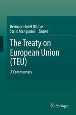 Blanke, Hermann-Josef - The Treaty on European Union (TEU), e-bok