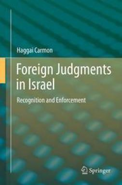 Carmon, Haggai - Foreign Judgments in Israel, ebook