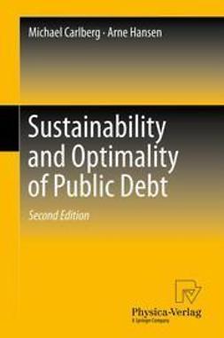 Carlberg, Michael - Sustainability and Optimality of Public Debt, e-bok