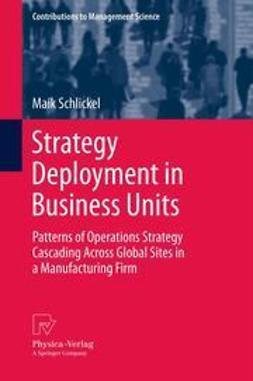Schlickel, Maik - Strategy Deployment in Business Units, ebook