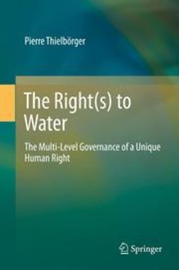 Thielbörger, Pierre - The Right(s) to Water, ebook