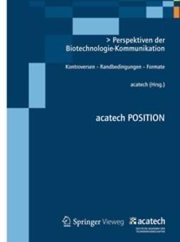 - Perspektiven der Biotechnologie-Kommunikation, ebook