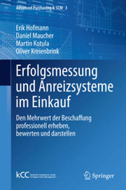 Hofmann, Erik - Erfolgsmessung und Anreizsysteme im Einkauf, e-kirja