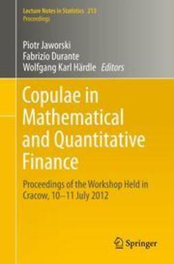 Jaworski, Piotr - Copulae in Mathematical and Quantitative Finance, ebook