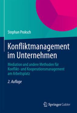 Proksch, Stephan - Konfliktmanagement im Unternehmen, e-bok