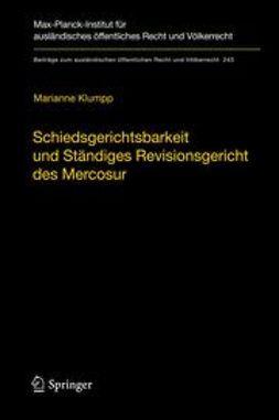 Klumpp, Marianne - Schiedsgerichtsbarkeit und Ständiges Revisionsgericht des Mercosur, ebook