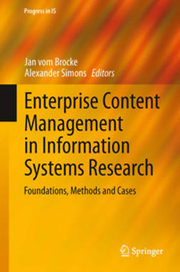 Brocke, Jan vom - Enterprise Content Management in Information Systems Research, e-bok