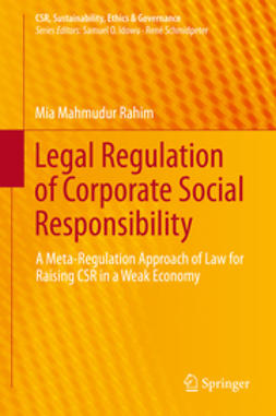 Rahim, Mia Mahmudur - Legal Regulation of Corporate Social Responsibility, ebook