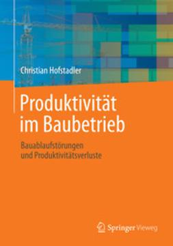Hofstadler, Christian - Produktivität im Baubetrieb, ebook